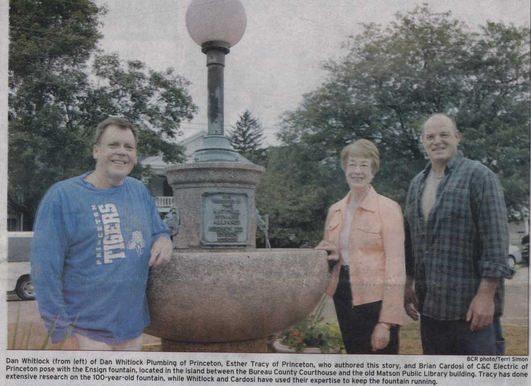 Illinois bureau county princeton - Princeton Illinois Fountain